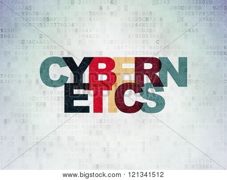 Science concept: Cybernetics on Digital Paper background