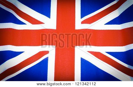 Detail of Great Britain Union Jack flack background