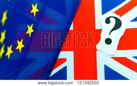 Brexit UK EU referendum concept with flags