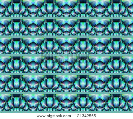 Seamless pattern turquoise green purple