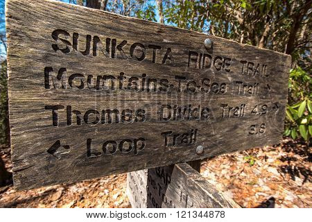Sunkota Ridge Trail Sign Angle