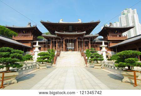 Temple at Chi Lin Nunnery, Hong Kong