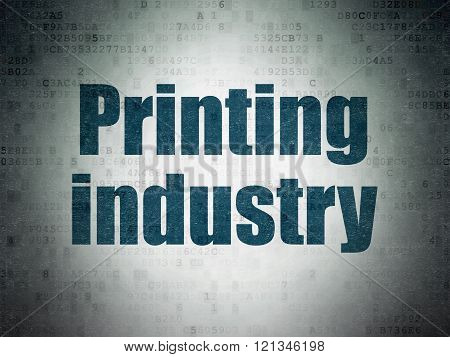 Industry concept: Printing Industry on Digital Paper background