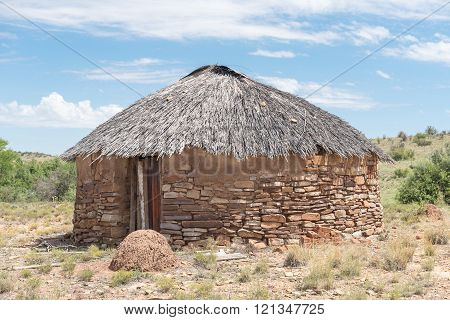 Hut built from stone