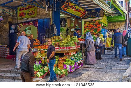 Visiting Of Arab Bazaar