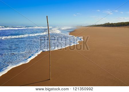 Tavernes de Valldigna beach dunes in Valencia of Spain