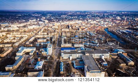 city view from the air, Russia