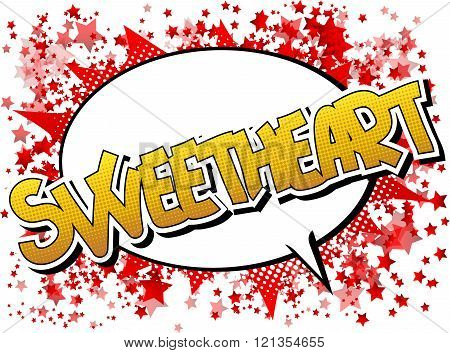 Sweetheart - Comic Book Style Word.