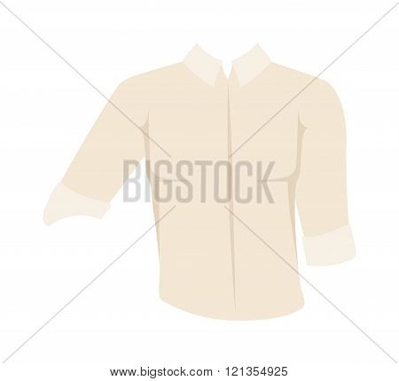 White vector Shirt cartoon illustration.