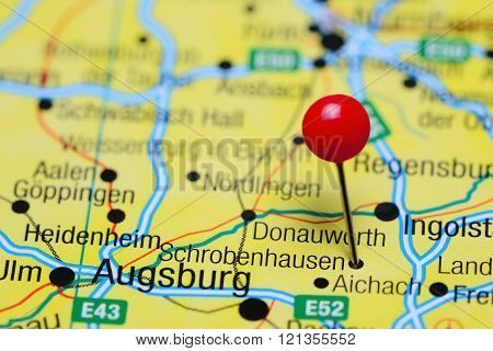 Schrobenhausen pinned on a map of Germany