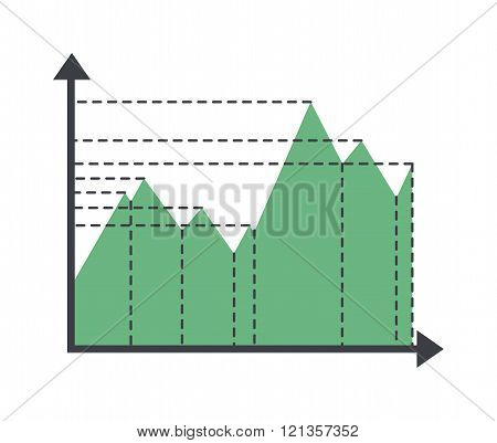 Graph elements vector illustration