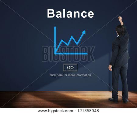 Balance Bank Growth Improvement Concept