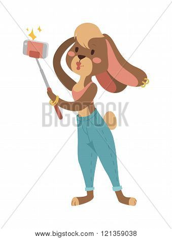 Easter rabbit girl Greeting card