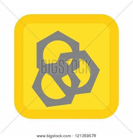Screw nut vector illustration