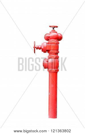 Isolated Red Fireplug On White