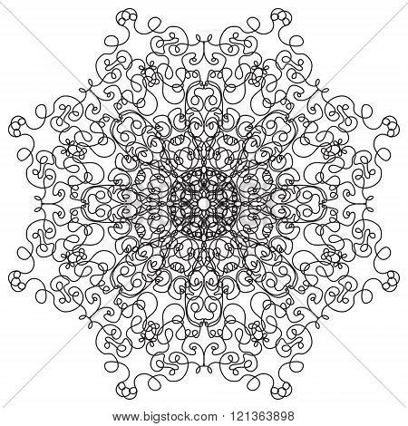 Mandala. Vintage Round Ornament Pattern. Islamic, Arabic, Indian, Ottoman Motifs, Kaleidoscope, Meda