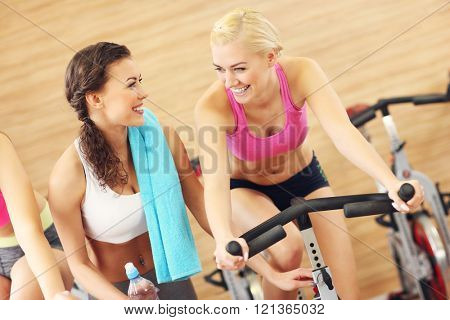 Picture of sporty group of women