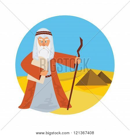 Moses Splitting The Sea - Moses splitting the red sea with the Israelite leaving Egypt.