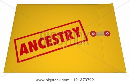 Ancestry Family History Research Documents Envelope 3D