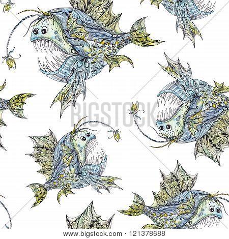 Cute Anglerfish Pattern