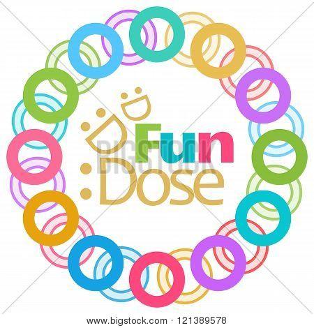 Fun Dose Colorful Rings Circular