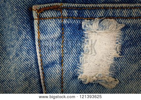 Blue jeans dirty