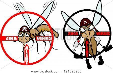 zika virus - warning sign