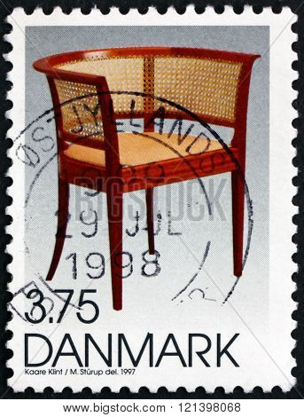 Postage Stamp Denmark 1997 Faaborg Chair, Danish Design