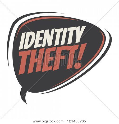 identity theft speech bubble