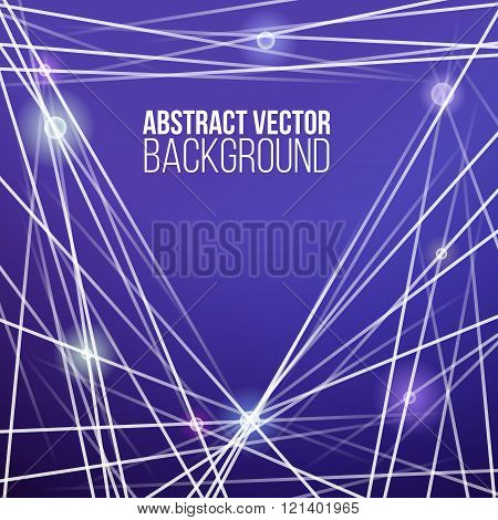 Abstract vector stripes background with dots. Techology lines and points.