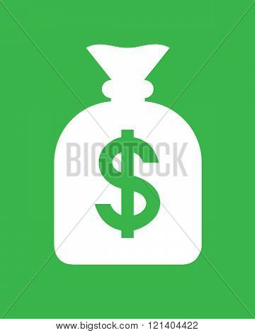 A simple vector illustration of a money bag