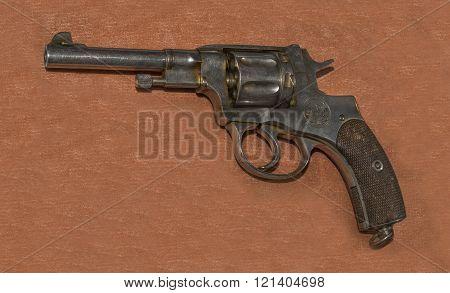 7.62 mm revolver sample Nagan 1895 years