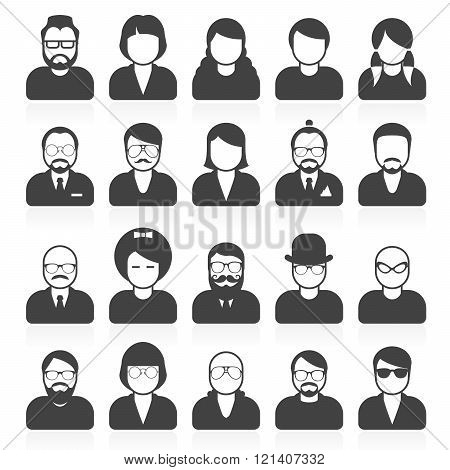 Simple People Avatars And Userpics With Different Style And Hairdo