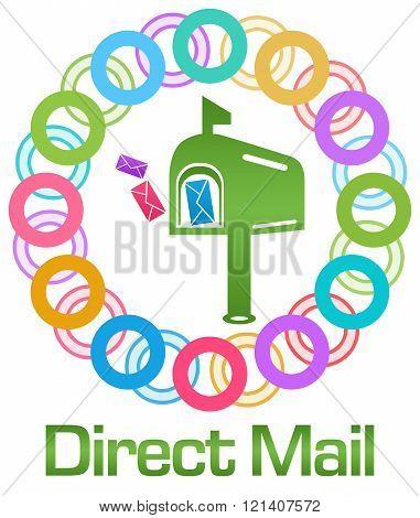 Direct Mail Colorful Rings Circular