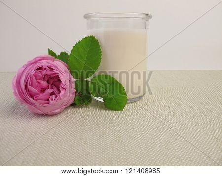 Rose lassi