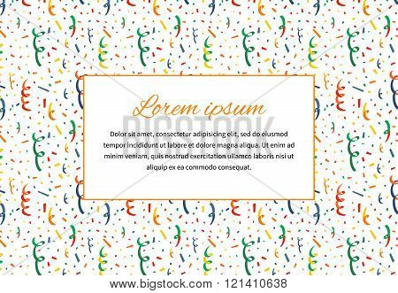 Abstract background with exploding party popper and text space a4 size illustration