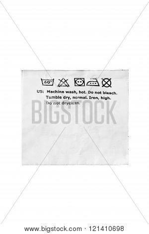 Clothes Label Isolated
