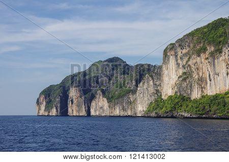 Beautiful Limestone Rock Of Ko Phi-phi, Tropical Island, Krabi Province, Thailand, Asia
