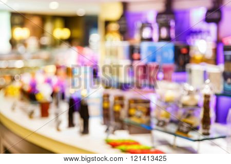 Blurred Department Store