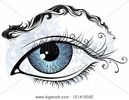 Vintage Eye Illustration.