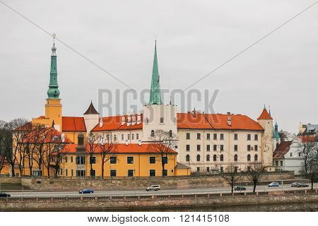 Riga - Latvia, March 6, 2016: Riga Castle - the official residence of the President of Latvia.