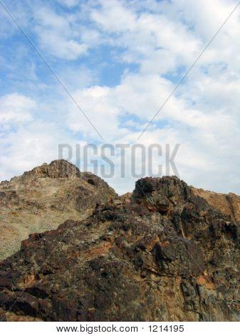 mountain closeup view in a desert land