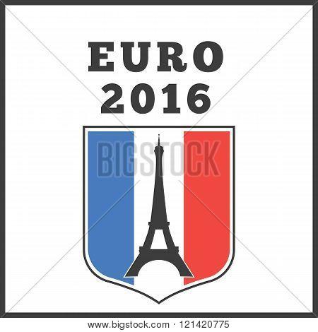 Poster or emblem for euro 2016