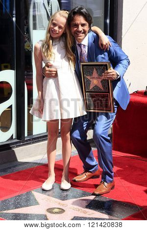LOS ANGELES - MAR 10:  Loreto Peralta, Eugenio Derbez at the Eugenio Derbez Hollywood Walk of Fame Star Ceremony at the Hollywood Walk of Fame on March 10, 2016 in Los Angeles, CA