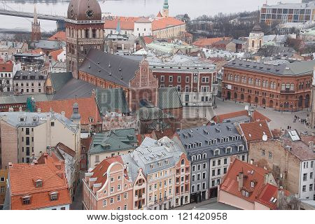 View At Riga From The Tower Of Saint Peter's Church, Riga, Latvia