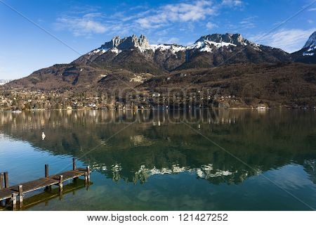 Annecy lake in the Haute-Savoie, Rhone-Alpes, France