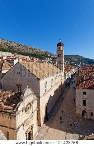Franciscan Monastery (1317) In Dubrovnik, Croatia