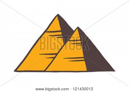 Egypt pyramids vector illustration.