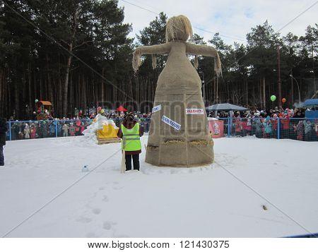 Maslenitsa effigy