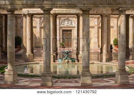 Montecatini, Italy - September 15, 2015: Tettuccio Terme spa - the most famous spa in Montecatini Terme, Italy